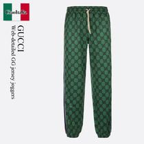 GUCCI(グッチ) メンズ・ボトムス Gucci Web-detailed GG jersey joggers