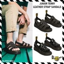 Dr Martens(ドクターマーチン) キッズサンダル 【Dr. Martens】JUNIOR TERRY LEATHER STRAP SANDALS♪キッズ♪