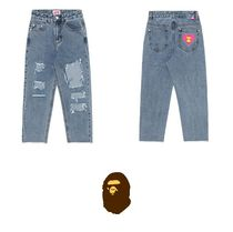 A BATHING APE(アベイシングエイプ) パンツ 【A BATHING APE】DESTROYED JEANS 要在庫確認