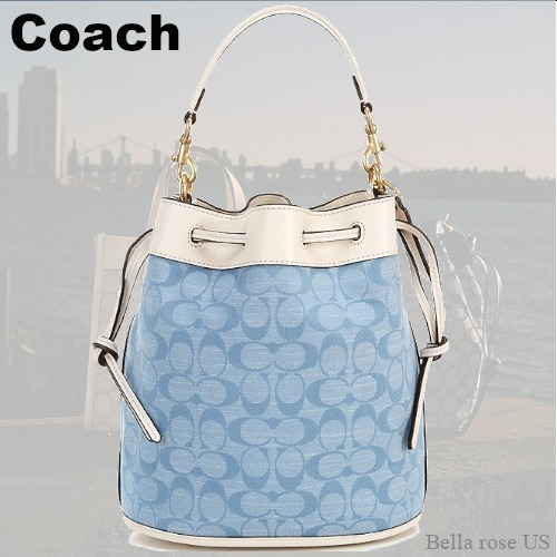 COACH Signature Chambray Field Bucket Bag ☆国内発送☆ (Coach/かごバッグ) 70729871