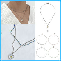 VINTAGE HOLLYWOOD(ヴィンテージハリウッド) ネックレス・チョーカー 【VINTAGE HOLLYWOOD】Dot Seed+Daisy Necklace〜2連セット