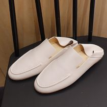 """""""COS"""" SOFT LEATHER LOAFERS WHITE"""