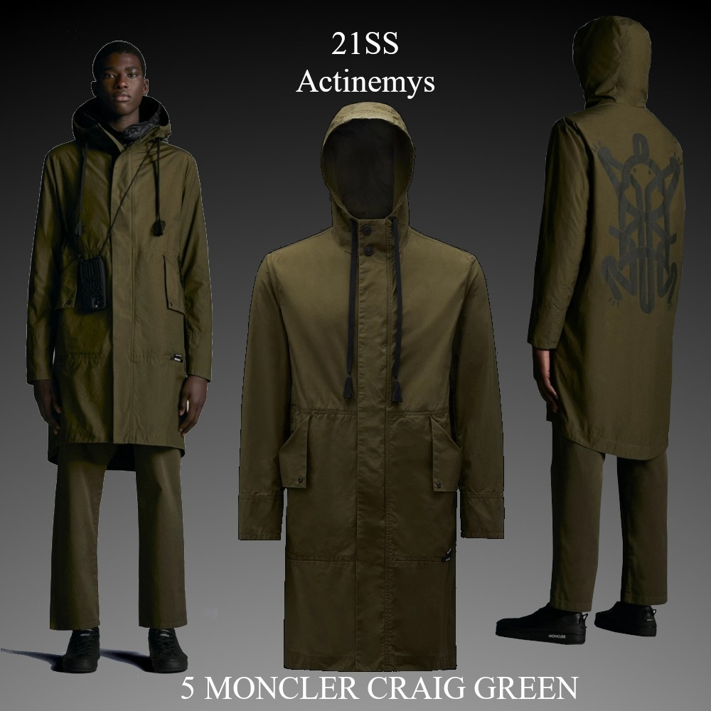 21SS★新作★5 MONCLER CRAIG GREEN★Actinemys ロングパーカー (MONCLER/アウターその他) G109H1C0000754A3W