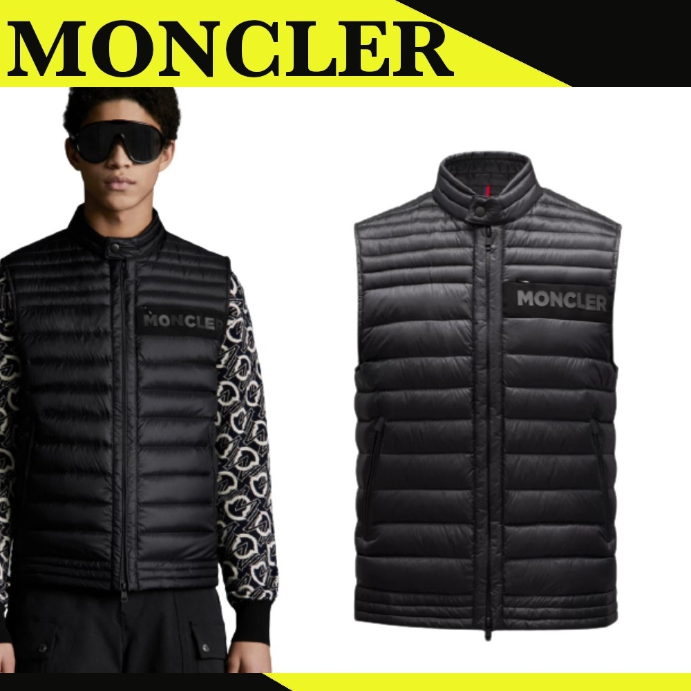 【MONCLER】ROUSSILON*ダウンベスト*ブラック*ナイロン (MONCLER/ダウンベスト) G10911A1190053048