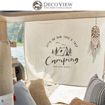 ★DECO VIEW★CAMPING EMBROIDERY DRAWING FABRIC POSTER SET
