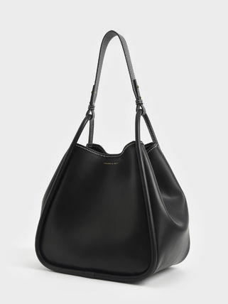 Charles&Keith トートバッグ 【シンガポール】☆CHARLES&KEITH☆ポーチ付 大容量トートバッグ(16)