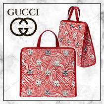 ◆GUCCI 21SS 最新作◆ キャットプリント トートバッグ ◆ 赤白