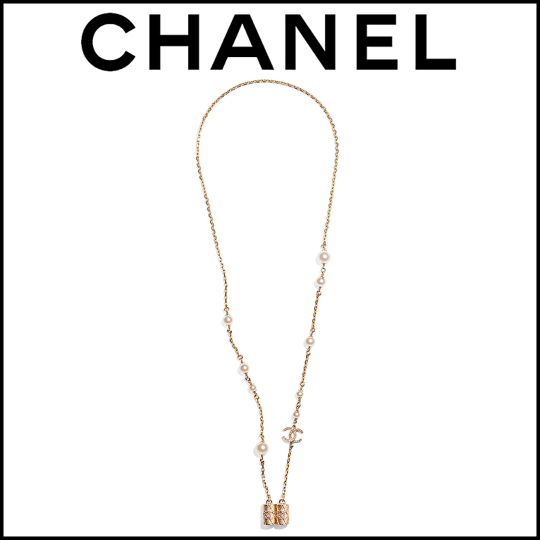 21FW★CHANEL★ネックレス AirPods パール ロゴ ゴールド (CHANEL/ネックレス・ペンダント) AB6658 B06252 ND155