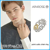 【Aphrose】point cubic chain ring〜リング★BTS ジンさん着用