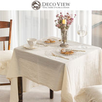 ★DECO VIEW★NATURAL BEIGE WASH TABLECLOTH_6人