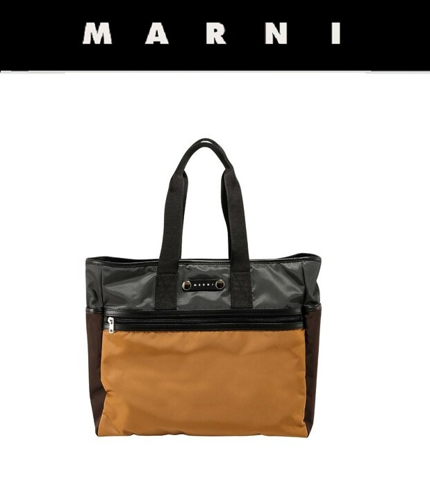 [MARNI] UNISEX Tote bag brown トートバッグ ブラウン (MARNI/トートバッグ) 70821949