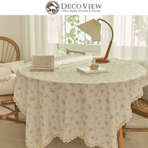 ★DECO VIEW★COTTAGE BLUE FLOWER TABLECLOTH テーブルクロス