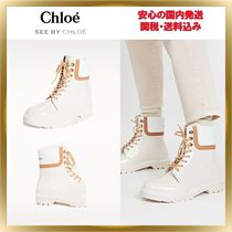 ■See by Chloe■Florrie Lace Up レインブーツ 関税送料込