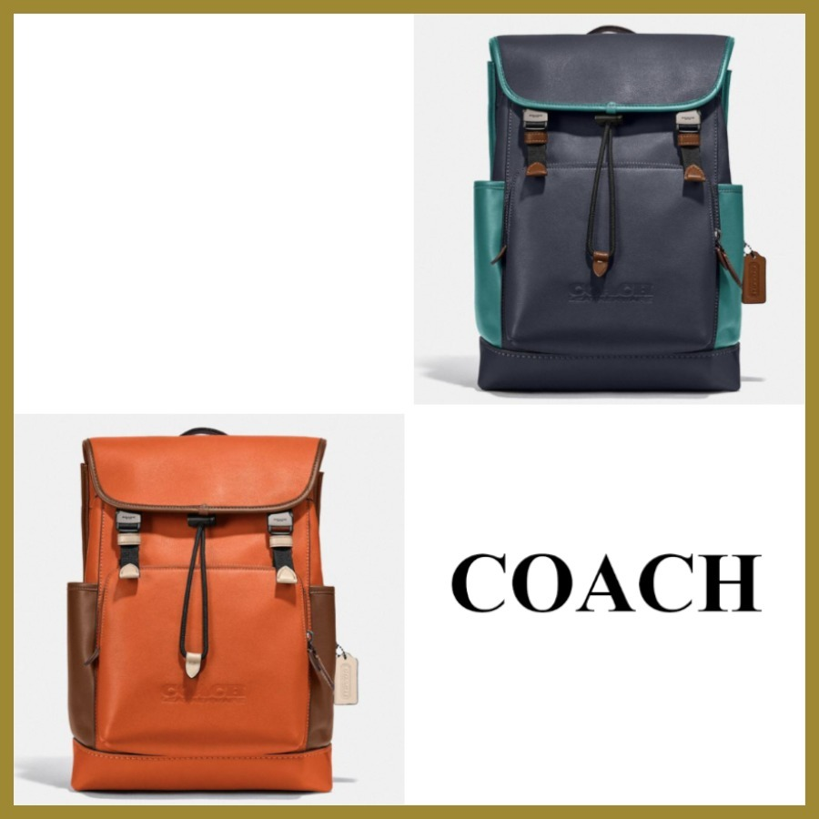 21SS【Coach】League Flap Backpack In Colorblock (Coach/バックパック・リュック) C2662