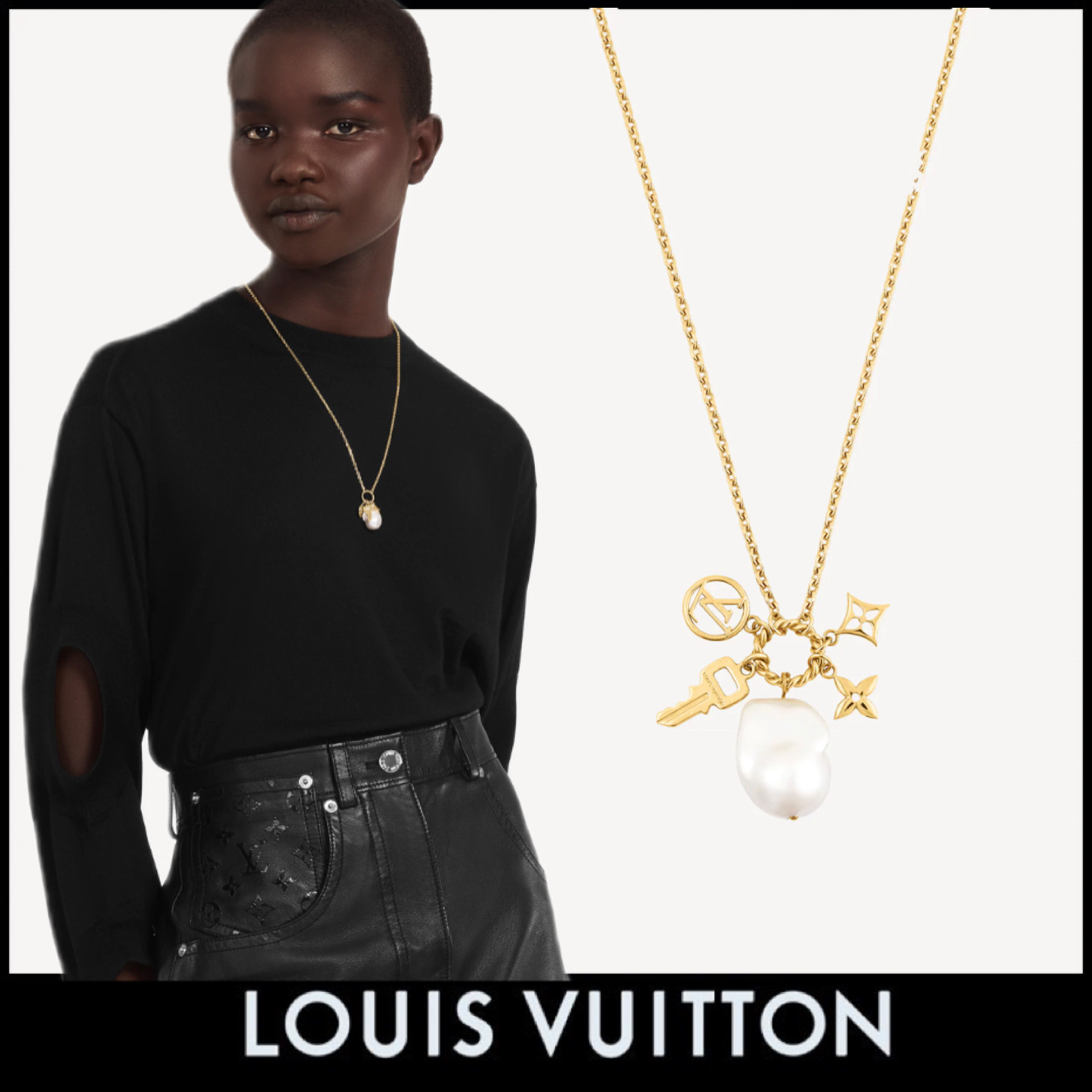 21FW》LOUIS VUITTON/COLLIER TOGETHER マザーオブパール (Louis Vuitton/ネックレス・ペンダント) M00370