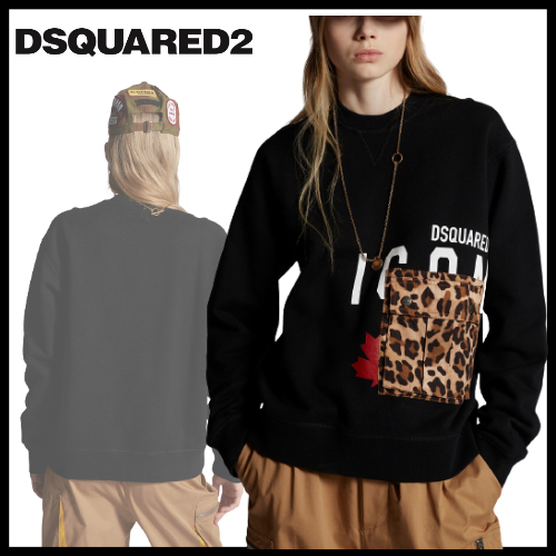 DSQUARED2☆秋冬新作☆Icon Sweater With Leopard Pocket (D SQUARED2/スウェット・トレーナー) 70858310