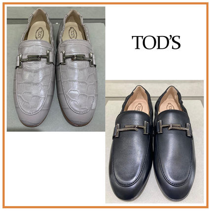 TOD'S☆LOAFERS☆レザー ローファー ダブルTロゴ ☆送料込