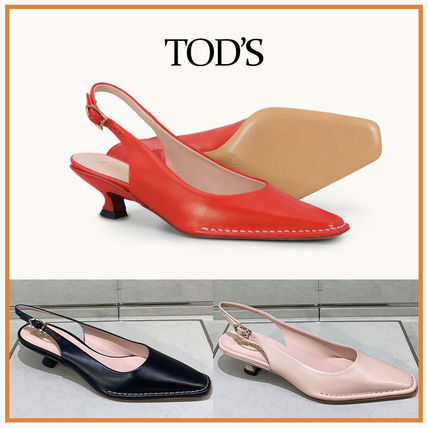 TOD'S☆SLINGBACKS IN LEATHER☆スリングバックパンプス☆送料込