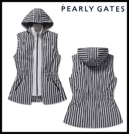 【PEARLY GATES】layered zip-up vest