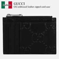 Gucci GG embossed leather zipped card case