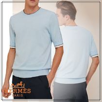 2021SS 直営店 HERMES 半袖 Tシャツ double cotes H
