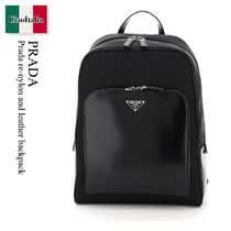 Prada re-nylon and leather backpack