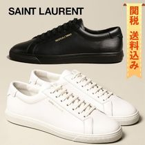 【SAINT LAURENT】Andy low top sneakers in leather