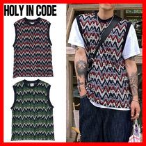 HOLY IN CODE(ホーリーインコード)★ Wave Thin Knit Vest