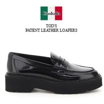 Tod s patent leather loafers