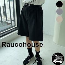 Raucohouse Two-Tuck Banding Wide Half Pants YJ1845