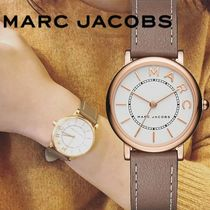 【MARC JACOBS】Roxy White Dial Brown Leather Ladies Watch
