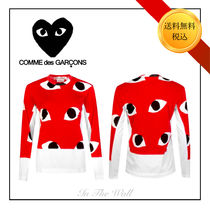 PLAY COMME des GARCONS(プレイコムデギャルソン) Tシャツ・カットソー ★限定SALE!【PLAY COMME DES GARCONS】HEART EYES LONG T-SHIRT