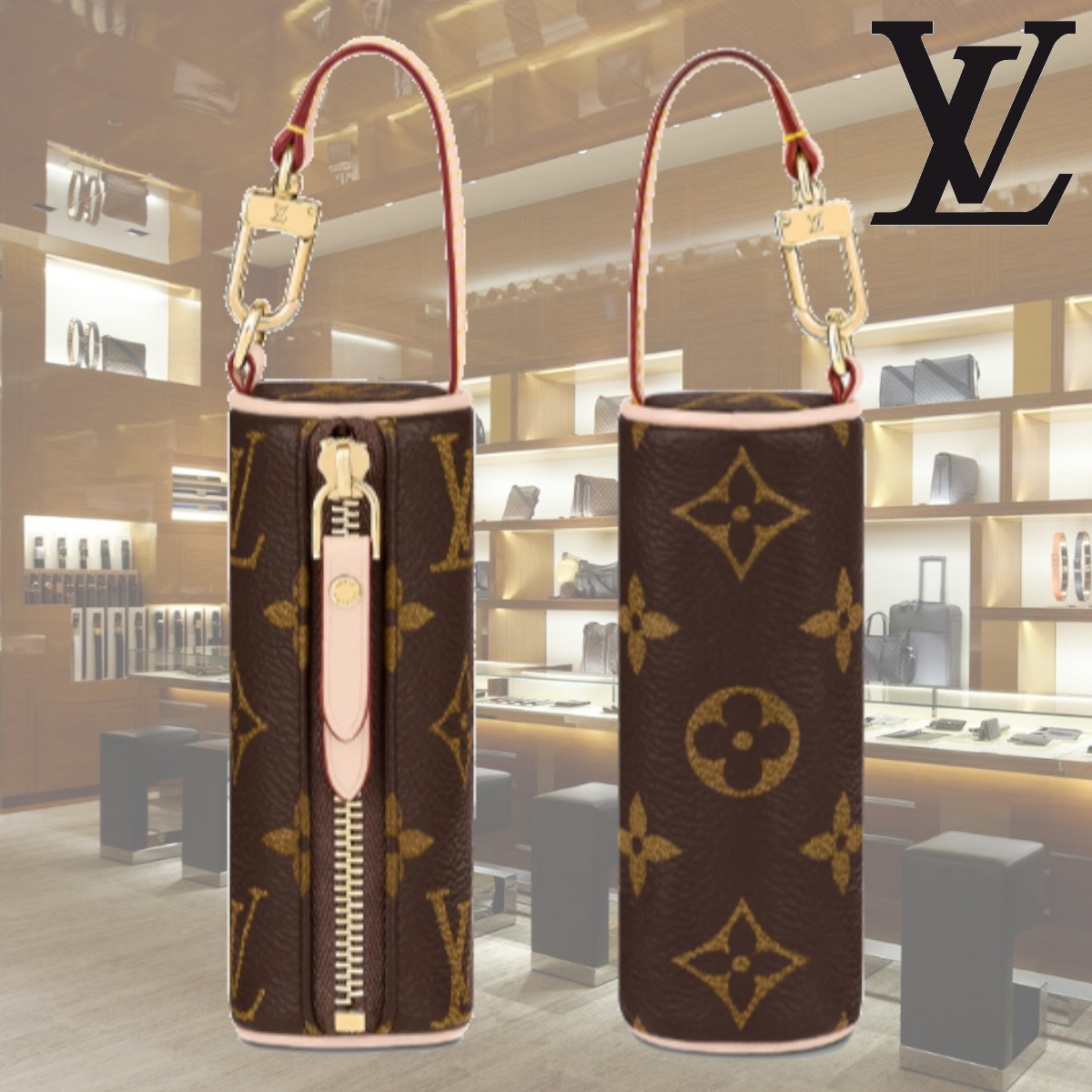 LV マイクロ パピヨン ポーチ バッグチャームに ギフト 国内発 (Louis Vuitton/雑貨・その他) M00354