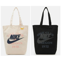SALE★ロゴ【送込Nike】Heritageトートバッグ★綿キャンバス2色