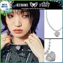 NASTY FANCY CLUB(ネスティーファンシークラブ) ネックレス・チョーカー ★[FANCY X KUROMI] Heart Bold Necklace (SILVER)★兼用