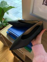 """☆""""COS""""コス新作☆POINTED LEATHER BALLET FLATS(black)"""