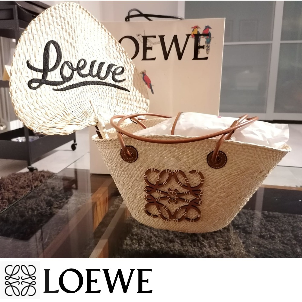LOEWE かごバッグ《Small Anagram basket》可愛い特製うちわ付! (LOEWE/かごバッグ) A223P65X01