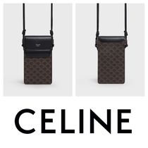 CELINE +HOMME TEEN KNIGHT POEM+フラップ付きモバイルポーチ