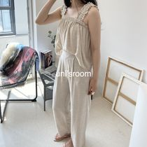 uni's room■2color リネンフリルセットアップ ST-SS21-17