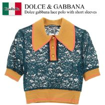 Dolce gabbana lace polo with short sleeves