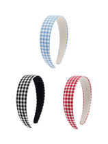 VINTAGE HOLLYWOOD ★ Carrie Gingham Check Hairband_3Color ★