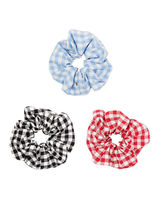 VINTAGE HOLLYWOOD ★Carrie Gingham Check Scrunchie_3Color ★