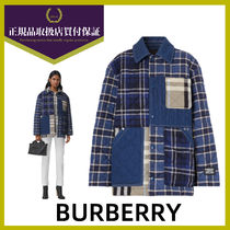 【Burberry】Quilted Check コットン&デニム オーバーシャツ