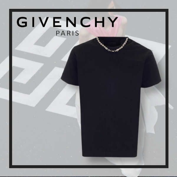 *GIVENCHY* 新作/チェーンネック Tシャツ (GIVENCHY/Tシャツ・カットソー) 71038145