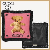 【25ans 掲載】GUCCI Needlepoint クッション テディベア ピンク
