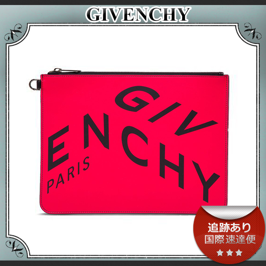 SALE!!送料込≪GIVENCHY≫ FRAGMENT ロゴ レザー クラッチ (GIVENCHY/クラッチバッグ) 71042140