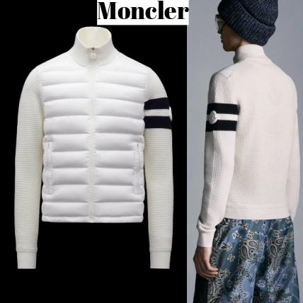 【21AW】Moncler Wool and nylon cardigan ダウン カーディガン (MONCLER/カーディガン) 71082479