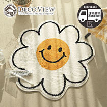 DECOVIEW Smile Flower Soft Foot Mat BBH2016