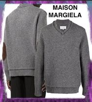 【MAISON MARGIELA】Grey Sweater With Patches