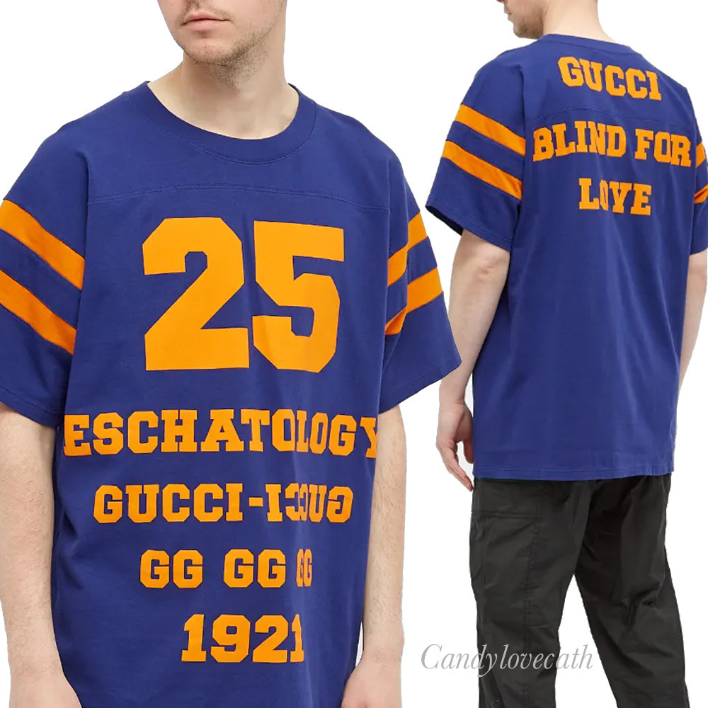 GUCCI 25 Gucci Eschatology and Blind for Love 1921 Tシャツ (GUCCI/Tシャツ・カットソー) 655459 XJDHG 4323